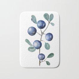 Blackthorn Blue Berries Bath Mat