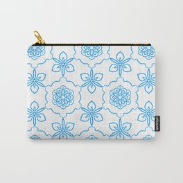 Dancing Blue Flowers Carry-All Pouch