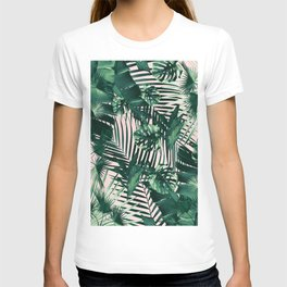 Tropical Jungle Leaves Siesta #1 #tropical #decor #art #society6 T-shirt