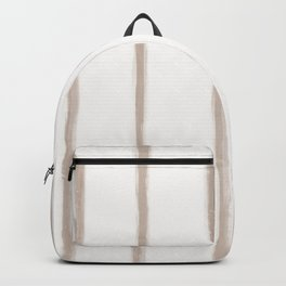 Skinny Strokes Gapped Vertical Nude on Off White Backpack