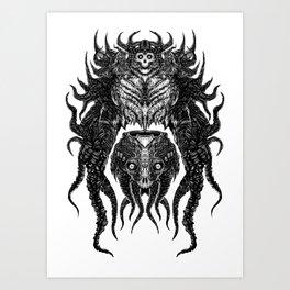 Tentacle Terror Art Print