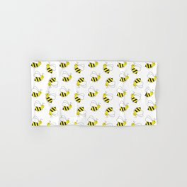 Bumble Bee Pattern Hand Bath Towel