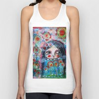 hippie Tank Tops featuring Hippie Circus by Dulcamara