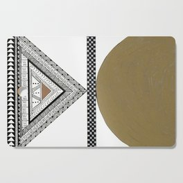 Geometric Shapes with Gold, Copper and Silver Cutting Board
