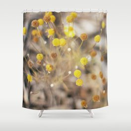 Abstract Botanical - Billy Buttons Shower Curtain