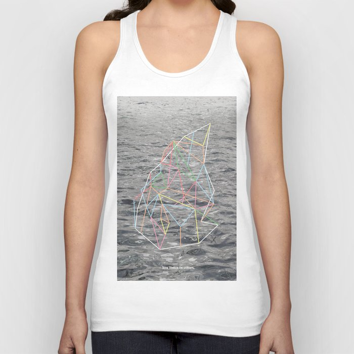 You Listen in Colors Unisex Tank Top