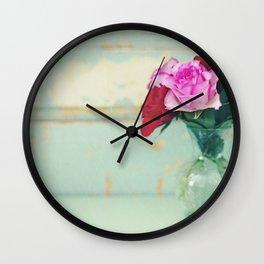 Retro Roses Wall Clock