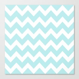 Turquoise Aqua Blue Chevron Canvas Print