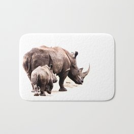 Rhino Endangered Love Bath Mat