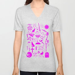Buffy Symbology, Pink Unisex V-Neck