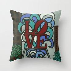 pop LOVE park Throw Pillow
