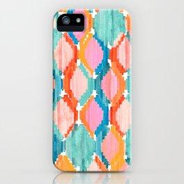 marmalade balinese ikat iPhone Case