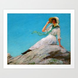 Charles Courtney Curran - A Sunny Morning - Digital Remastered Edition Art Print