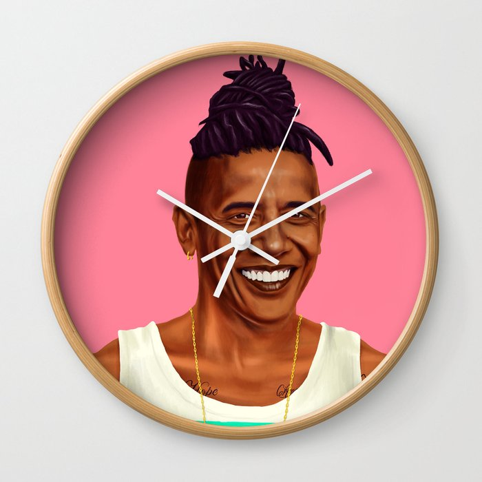 Hipstory - Barack Obama Wall Clock