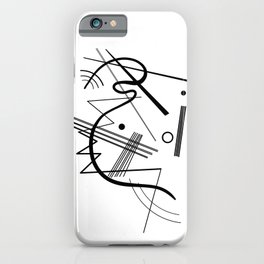 Kandinsky - Black and White Abstract Art iPhone Case