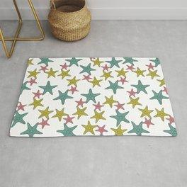 starfish tropical print Rug