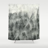 grunge Shower Curtains featuring Everyday by Tordis Kayma