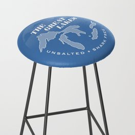 The Great Lakes - Unsalted & Shark Free (Inverse) Bar Stool