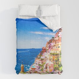Colorful Positano Italy Comforters