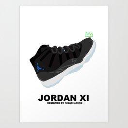 Jordan XI Space Jams Art Print