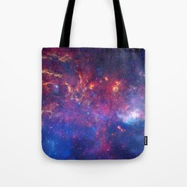 Galaxy in red'Blue Tote Bag