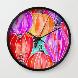 Vietnamese Lanters – Tertiary Palette Wall Clock