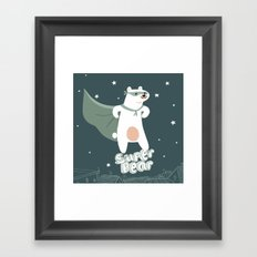 superbear Framed Art Print