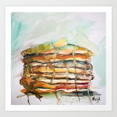 Because, pancakes Art Print