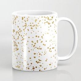 Elegant Luxury Sparkling Gold Confetti Dots Image Coffee Mug