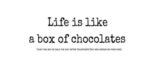 Box of Chocolates; Meaning of Life Coffee Mug