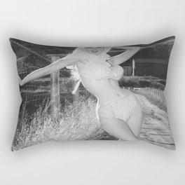 Vintage 1950's Pinup Girl Betty Brosmer Poster Rectangular Pillow