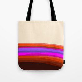 Orange, Purple, and Cream Abstract Tote Bag