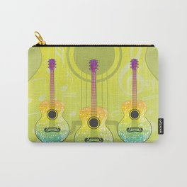 Polygonal guitar silhouette Carry-All Pouch