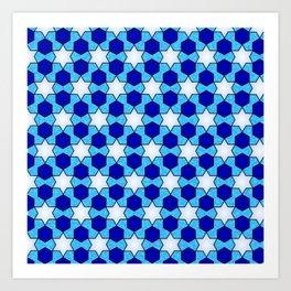 Stars And Hexes Art Print