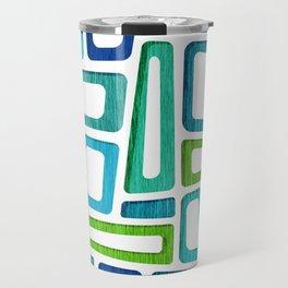 Mid Century Boxy Abstract Travel Mug