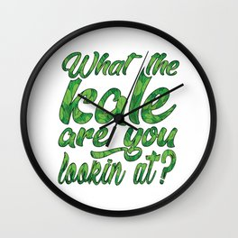 What the Kale are You Lookin' At Vegans Kale Art Light Wall Clock