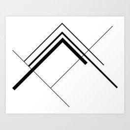 lines overlap Art Print