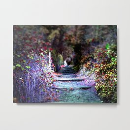 Secret Garden Path Purple Dream Photography Metal Print