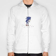 Sad Sonic The Hedgehog In A Field Hoody