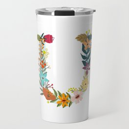 Monogram Letter U Travel Mug