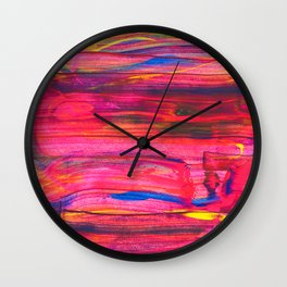 Rainbow Party Abstract Painting Wall Clock