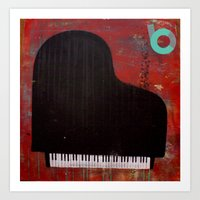 black keys Art Prints featuring black keys by C.BENNETT
