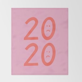 2020 Unhappy Emoji Year Throw Blanket