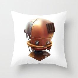 The wierd cute steampunk robot Throw Pillow
