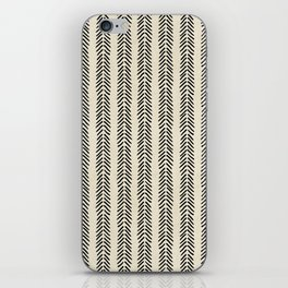 Mud Cloth - Black and White Arrowheads iPhone Skin