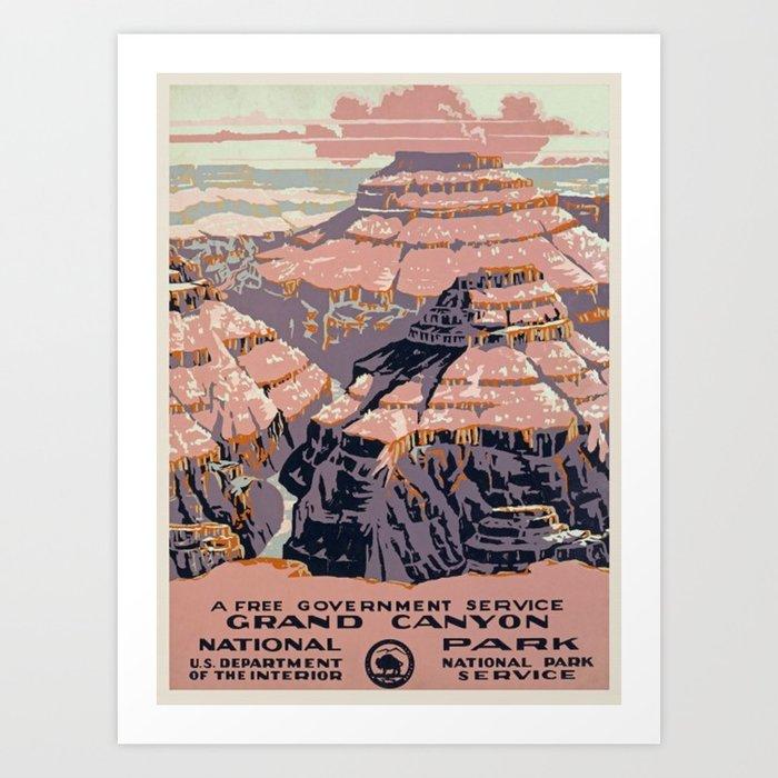 Grand Canyon Vintage Kunstdrucke