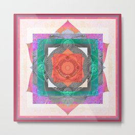 Harmonic of Radiant Gentleness Sacred Geometry Mandala Metal Print