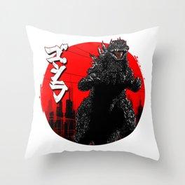 Gojira Kanji Throw Pillow