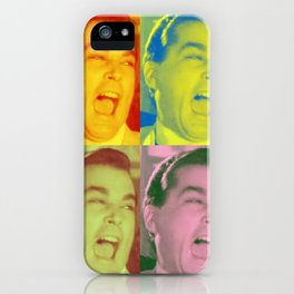 Ray Liotta Laugh mafia gangster movie Goodfellas Multi-Color iPhone Case