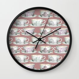 Florence coffee cup print Wall Clock